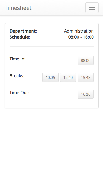 hotel mobile timesheet